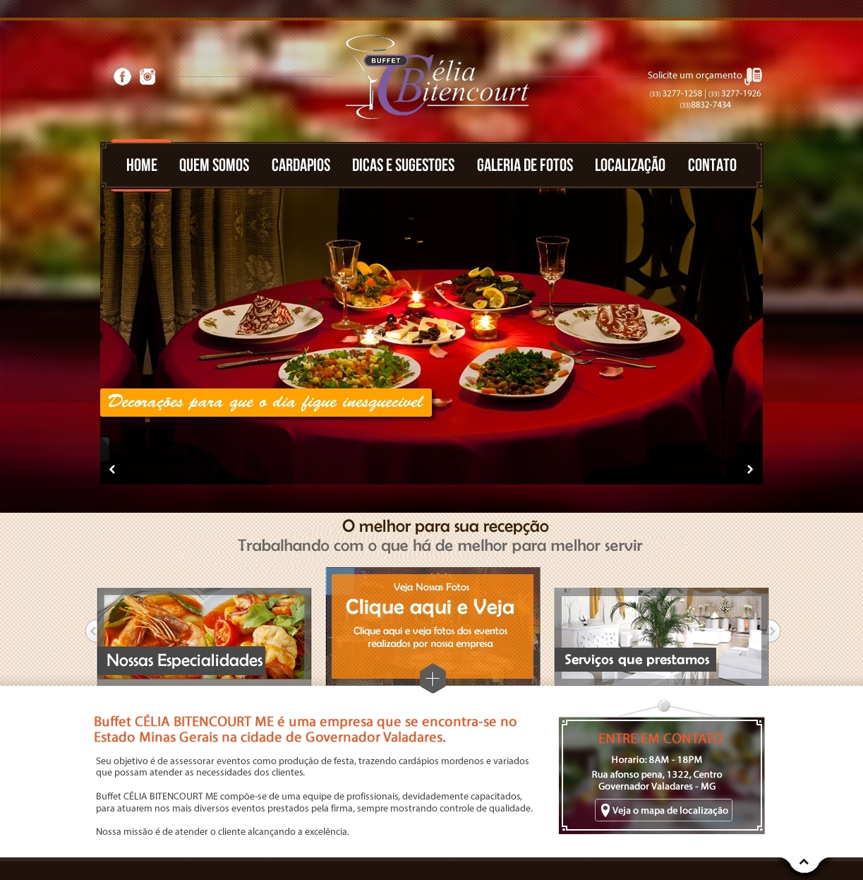layout site buffet
